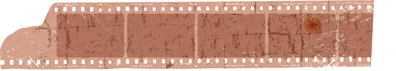 grungy filmstrip, blank photo frames, free space for pictures,vector,fictional artwork