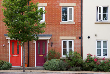 Houses or flats in row, England