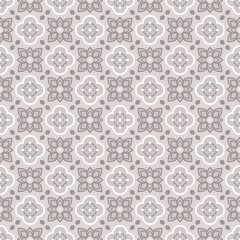 Arabic east ornament vector pattern print. Taupe colors geometric seamless backdrop.