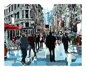 Foto op Aluminium Art Studio Steet in New York city