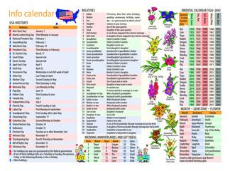 Info calendar