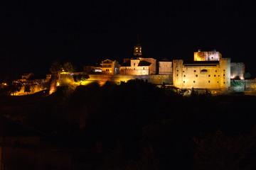 Puebla de Sanabria de noche, Zamora, España.