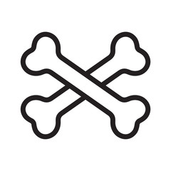 crossbones vector icon logo pirate bone Halloween cartoon illustration symbol