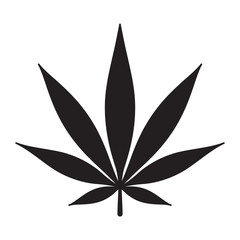 Marijuana vector icon cannabis weed leaf logo clip art illustration graphic
