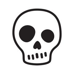 skull vector icon logo pirate Halloween crossbones kitten cartoon illustration symbol
