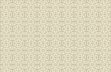 Vector Seamless Korean Pattern, Background Template, Traditional Ornament.