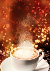 Autumn, coffee time. Concept illustration