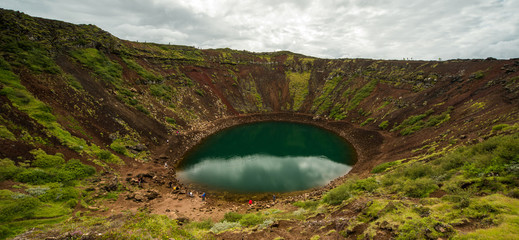 Kerid, Volcanic crater, south Iceland