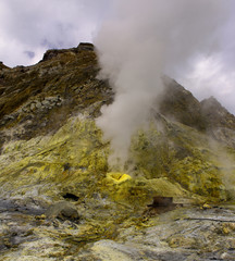 Sulphur vent on White Island near Whakatane
