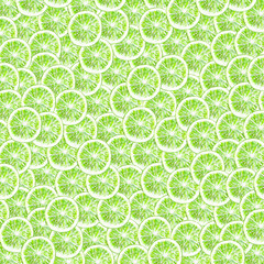 Pattern citrus lime watercolor