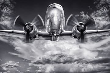 historical aircraft against a cloudy sky
