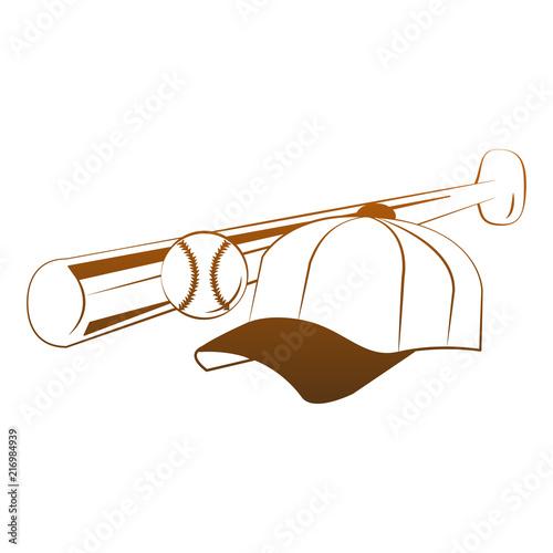 baseball bat hat and ball vector illustration graphic design stock rh fotolia com Baseball Bat Vector Logo Baseball Player Vector
