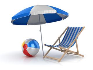 Beach Ball , Chair and Umbrella
