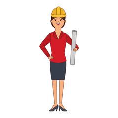 woman engineer cartoon vector illustration graphic design