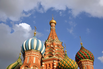 Saint Basils Cathedral on the Red Square in Moscow