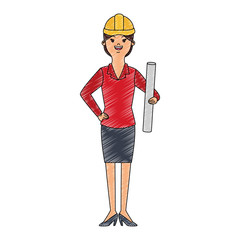 woman engineer cartoon vector illustration graphic design