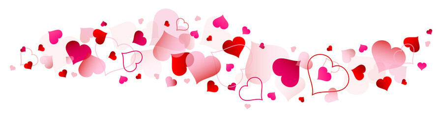 Red & Pink Hearts Banner