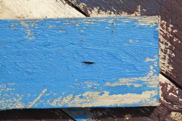 Blaues Holzbrett,  Hintergrundbild, Textur