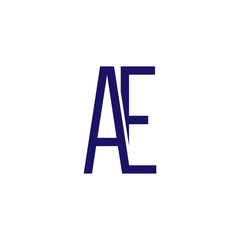 A E Initial Letter Linked logo icon vector