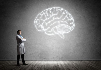 Neuroscience and brain research concept
