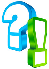 Question & Answer Icon 3D Blue/Green