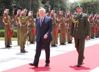 Palestinian president Mahmoud Abbas meets Jordan's King Abdullah in Amman