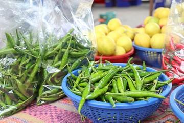 Fresh chilli at market