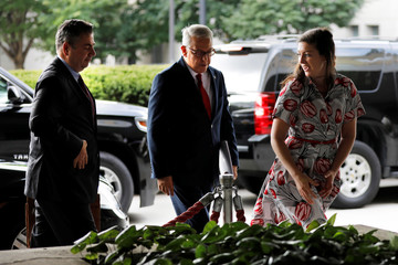 Turkish Deputy Foreign Minister Sedat Onal arrives at the State Department in Washington