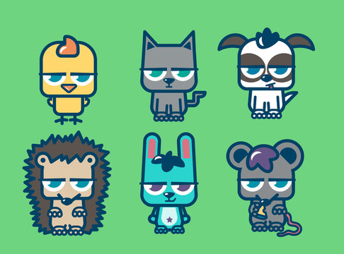 Collection of angry pets