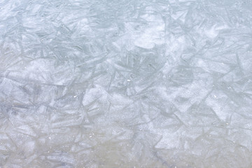 Frozen lake ice crystal structure texture natural pattern