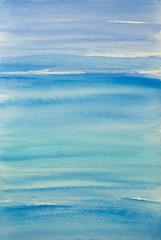 Watercolor background, paint  blue texture