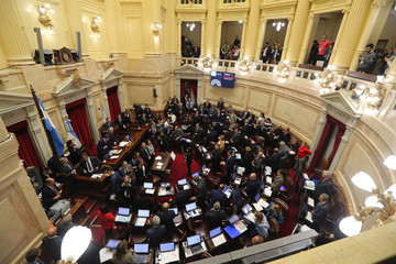 Lawmakers meet to debate and vote on a bill that would legalize abortion, in Buenos Aires