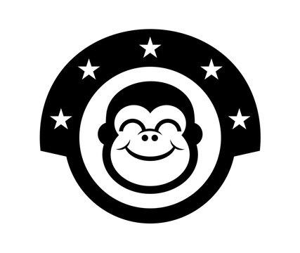 gorilla face icon