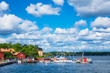 Fototapete - Schärengarten an der schwedischen Ostseeküste vor Stockholm