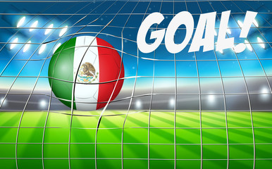 Mexico soccer ball flag