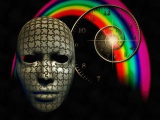 Mind exercises. Puzzled mask