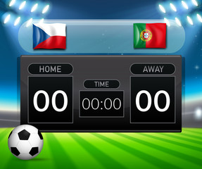 Czech Republic VS Portugal scoreboard