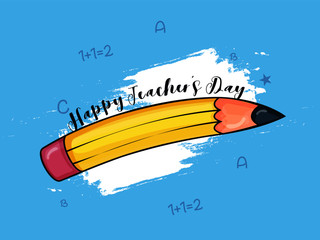 Creative and beautiful abstract for Happy Teachers Day with nice Education elements in background.