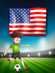 American soccer player template