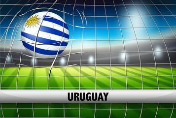 Uruguay soccer ball flag