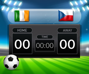 ireland vs czech republic score board