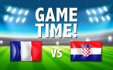 Game time france vs croatia