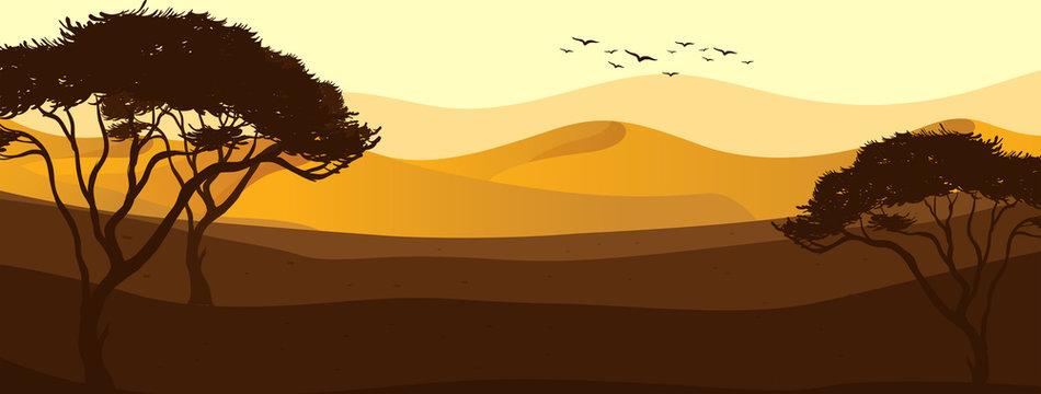 A beautiful desert view