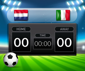 netherlands vs italy score board