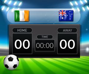 Irland vs Australia score board