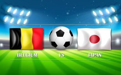 Belgium VS Japan template