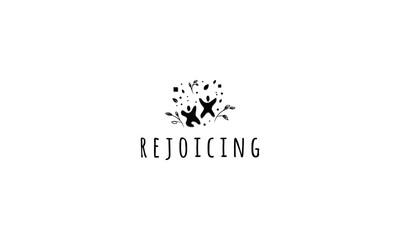Rejoicing vector logo image