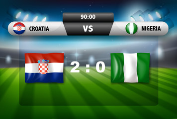 Croatia vs nigeria soccer game