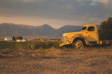 Old Truck and the Mountains