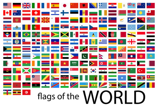 all country flags of the world